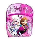 Disney Frozen Elsa & Anna Olaf Large 16 Backpack Pink Glitery