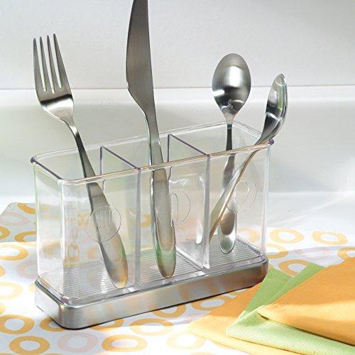 Flatware silverware organizer caddy holder cutlery utensil for Vertical silverware organizer