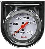 "Bosch SP0F000045 Style Line 2"" Mechanical Water/Oil Temperature Gauge (White Dial Face, Chrome Bezel)"