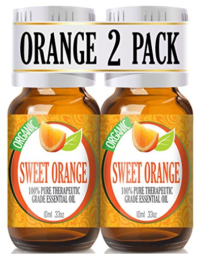 2 Pack - Sweet Orange - 100% Pure, Best Therapeutic Grade Essential Oil - 2 x 10ml