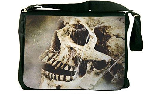 Rikki Knight Skull In Stones Design Messenger Bag front-589196