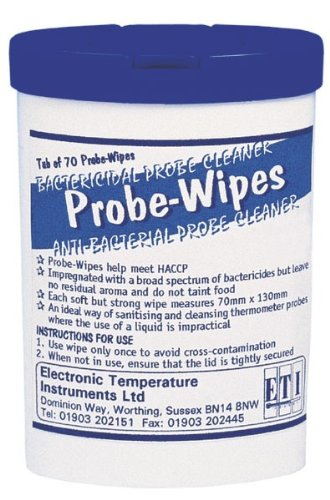 Small Tub 70 Antibacterial Thermometer Probes Wipes