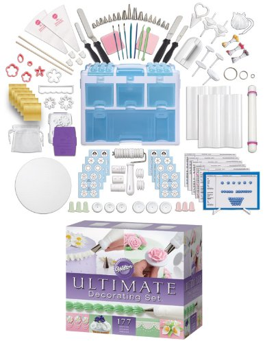 Wilton Ultimate Cake Decorators Set 177 pieces plus storage caddy
