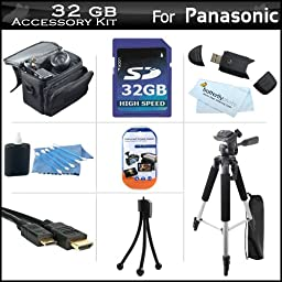 32GB Accessory Kit For Panasonic HDC-SD80K HD SD Card Camcorder Includes 32GB High Speed SD Memory Card + 57\