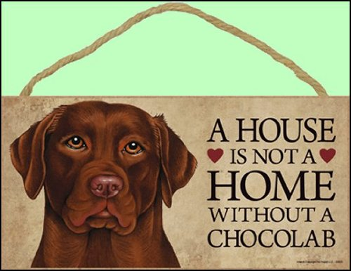 Chocolate Labrador Sign