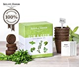 Grow 5 Herbs from Seed with Nature's Blossom Plant Kit - All You Need to Have your own Organic Herb Garden at Home. Unique Gift For Women and Men. Great For Indoor and Outdoor Gardening.