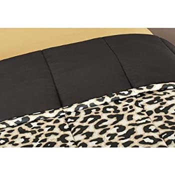 Mainstays Cheetah Bed-in-a-Bag Complete Bedding Set, Full
