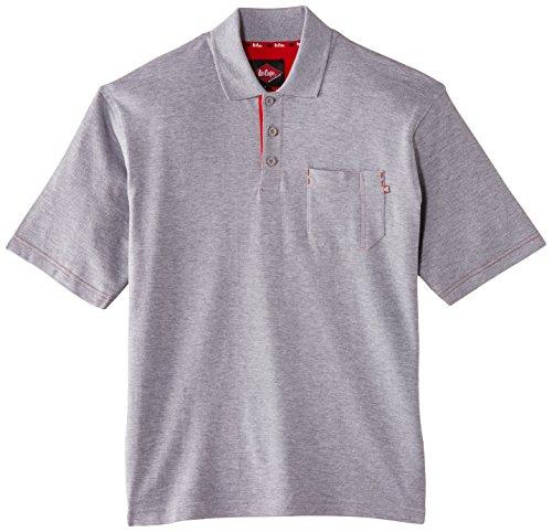 Lee Cooper - Polo piqué da uomo, grigio (grigio), XL