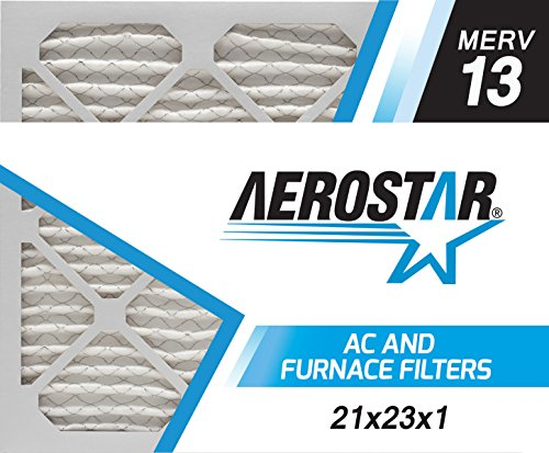 21x23x1 AC and Furnace Air Filter by Aerostar - MERV 13, Box of 12