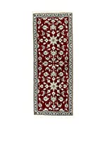 Eden Carpets Alfombra Nain K Rojo/Beige/Cielo 200 x 78 cm