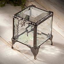 buy J Devlin Decorative Beveled Glass Keepsake/Storage/Jewelry Box