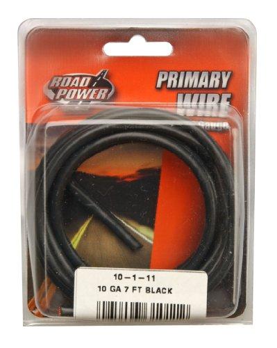 Coleman Cable 10-1-11 10-Gauge 7-Foot Automotive Copper Wire, Black
