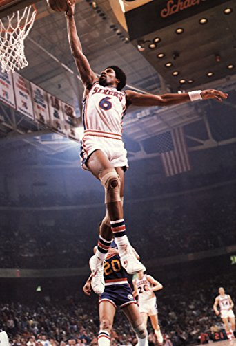 Dr. J Poster, Julius Erving, Philadelphia 76ers, Sixers, Basketball