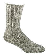 Fox River Outdoor Norwegian Crew Heavyweight Wool Socks, Medium, Brown Tweed