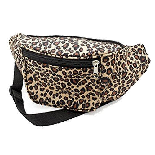 Classic Animal Leopard Print Bum/Wasit Bag. Ideal for 80s Events