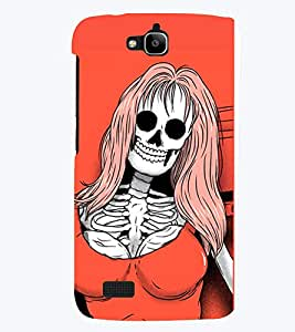 TOUCHNER (TN) Lady Skeleton 2 Back Case Cover for Huawei Honor Holly