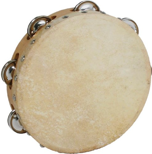 Atlas 8 inch Skin Single Jingle Tambourine