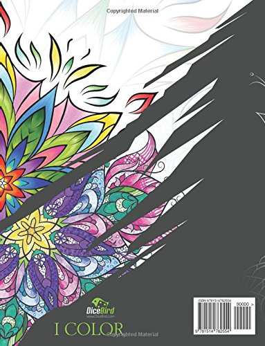 I color: Adults coloring book