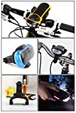 Ivation BIKE BEAKON: Portable Rechargeable Rugged Bluetooth Stereo Speaker & MP3 Player w/MicroSD Card Slot AUX Input FM Radio & Phone Answering - With Bult in Flashlight - NEON RED - Perfect for Home Office Sporting & Biking Use - Bike Mount Included - Works w/Virtually all Portable & Mobile Devices