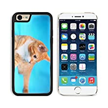buy Msd Apple Iphone 6 6S Aluminum Plate Bumper Snap Case Animals At Home Red Cute Little Baby Cat Pet Kitten Laying On Bed Turquoise Blanket 25089271