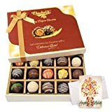 Festive Tasty Truffles Collection With Birthday Card - Chocholik Belgium Chocolates