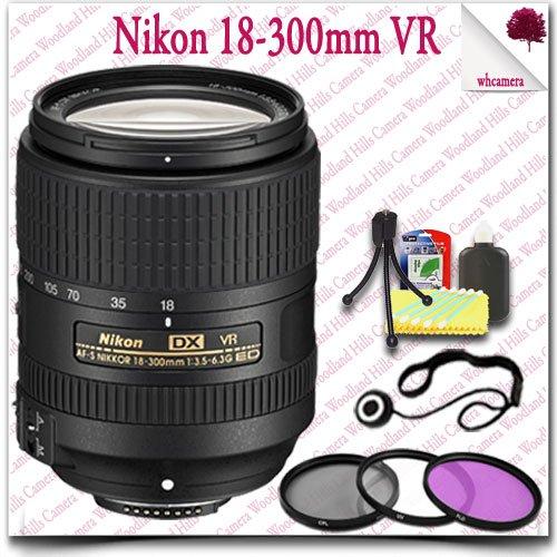 Nikon Af-S Dx Nikkor 18-300Mm F/3.5-6.3G Ed Vr Lens + 3Pc Filter Kit 8Pc Nikon Saver Bundle