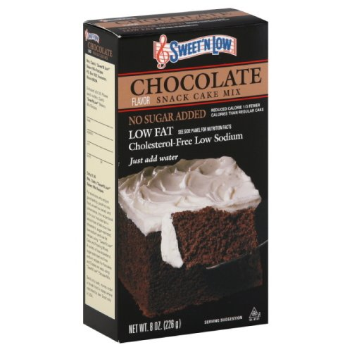 Sweet N Low Chocolate Cake Mix, 8-Ounce (Pack of 6)