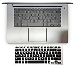 2in1 Wrist Palmrest Skin Sticker With Trackpad Touchpad Cover+ Keyboard Protector for 15.6\'\' Dell XPS 15-9550 Precision 15-5510 M5510 (brushed steel silver palmrest sticker+semi-black keyboard skin)