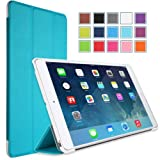 MoKo Apple iPad Mini with Retina Display Case - Ultra Slim Lightweight Smart shell Cover Case for Mini 2 (2013) and Mini (2012 Edition), Light BLUE