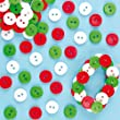 Red, White & Green Mini Buttons (Pack of 250)