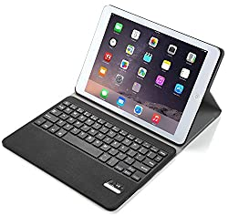 IVSO APPLE iPad Pro 9.7 Case With Keyboard Ultra-Thin High Quality PU Leather DETACHABLE Bluetooth Keyboard Stand Case / Cover for APPLE iPad Pro 9.7 inch Tablet (Black)