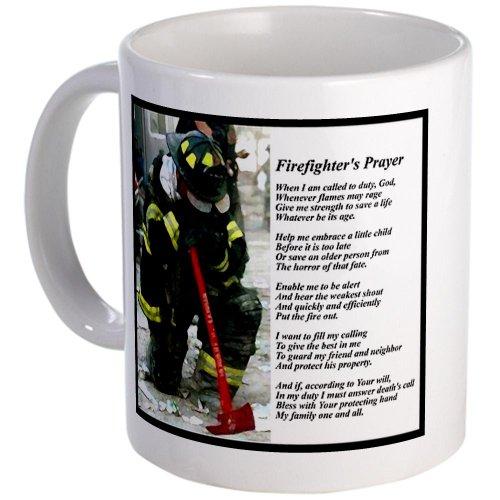 Cafepress Old Version Firefighter Prayer Mug - S White