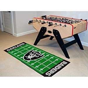 Fan Mats NFL Oakland Raiders Football Field Runner: 2 ft. 6 in. x 6 ft. Mat by Fanmats