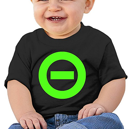 DVPHQ Baby's Type O Logo Negative T-srhits Little Boy's & Girl's Black Size 18 Months (6-24 Months)