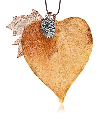 Ana Natural Leaves Collana con Triplo Pendente
