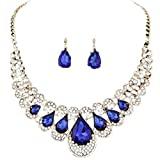 Clearance Deals Necklace+Earrings Jewelry Set Womens Mixed Style Bohemia Color Bib Chain Necklace Earrings Jewelry by ZYooh (Blue)