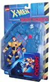 Marvel Comics Year 1997 X-Men Robot Fighters 5 Inch Tall Action Figure - Cyclops Plus Apocalypse Droid with Gatling Gun Arm