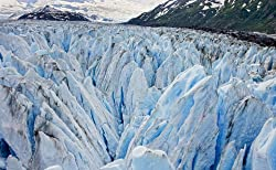 A Close-Up of a Prince William Sound Glacier in Alaska - Evocative Photographic Print by Carol M. Highsmith