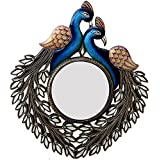 Ghanshyam Art Wood Peacock Wall Mirror (50.8 Cm X 4 Cm X 58.42 Cm, GAC056)