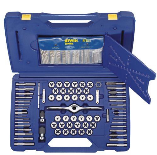 Irwin Tools 1841432 Performance Threading System Self-Aligning Deluxe Tap, Die and Drill Bit Set, 116-Piece (Irwin Sae Tap And Die Set compare prices)