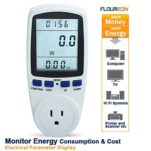 Ts-836A Plug Power Meter Energy Watt Voltage Amps Meter With Electricity Usage Monitor, Reduce Your Energy Costs