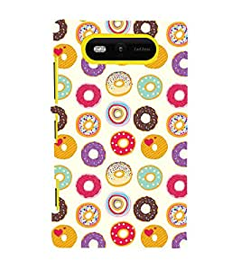 Circle Pattern Cute Fashion 3D Hard Polycarbonate Designer Back Case Cover for Nokia Lumia 820