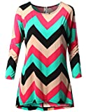 SJSP Women Maternity Long Sleeve Chevron Print Tunic Top
