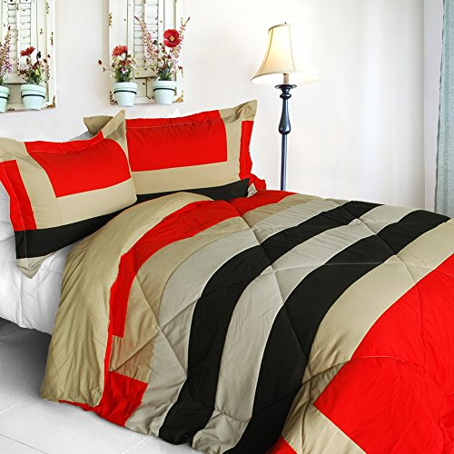 [Home Prairie] Quilted Patchwork Down Alternative Comforter Set (Twin Size) front-940716