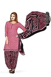 RK Fashion Womens Cotton Un-Stitched Salwar Suit Dupatta Material ( VARIETY-GANPATI-SUPRIYA-214-Pink-Free Size)