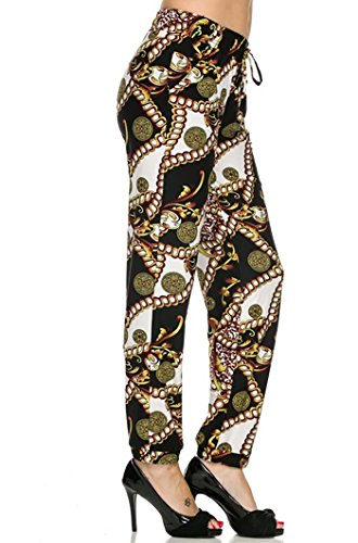 New-Kathy-Juniors-Allover-Printed-Brushed-Poly-Soft-Jogger-Pant