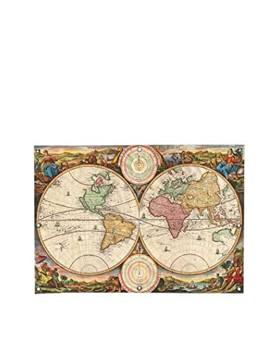 Stoopendaal Antique Map Of The World In Two Hemispheres (1730) Canvas Wall Mural
