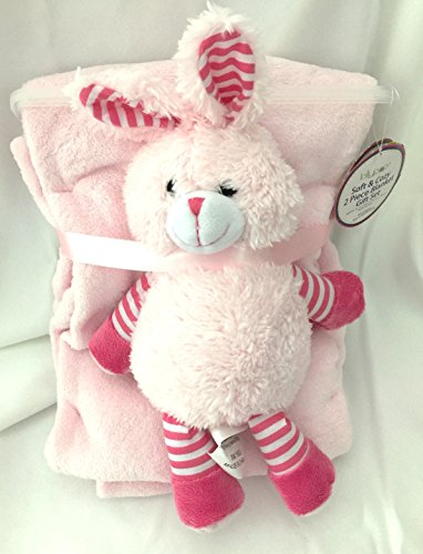 Lollypop Two Piece Bunny and Blanket Gift Set - 1