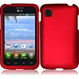 Chili Red Hard Case Cover Premium Protector for LG Optimus Dynamic II LG39C L39C (by Net 10 / Tracfone / Straight... by LG