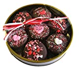 Chocolate Dipped Oreo Cookies decorated with Hearts & Be Mine for Valentines Day - 7 Oreo Assortment